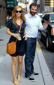 Leslie Mann and David Letterman