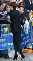 Carey Mulligan and David Letterman