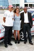 Lewis Hamilton, Caroline Flack and Anthony Hamilton