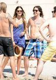 Cisco Adler On Malibu Beach With Friends
