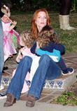 Marcia Cross, her daughters Eden and Savannah