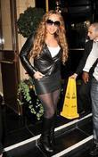 Mariah Carey leaving her hotel London, England