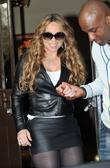 Mariah Carey leaving her London hotel London, England