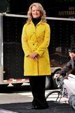Mary Hart Filming A Segment For 'entertainment Tonight' In Times Square