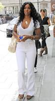 Kelly Rowland, Wearing An All White Ensemble and Arrives At The Mayfair Hotel