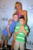 Amy Smilovic and her son(LtoR)Gabriel Smilovic and Charlie...