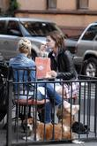 Mischa Barton enjoys a snack and a smoke...