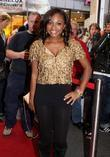 Naturi Naughton, from Fame, signs autographs and performs at the Fame music store