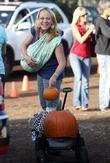Nicole Sullivan takes her baby son Beckett Edward Packham to Mr. Bones Pumpkin Patch to select a pumpkin for Halloween