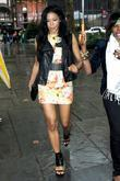 Amerie arriving at Bryant Park Mercedes-Benz IMG New...