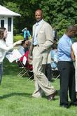 Alonzo Mourning and Barack Obama
