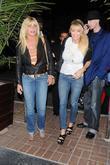 Pamela Bach (left) Arriving For Dinner At Madeo Restaurant In Beverly Hills