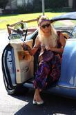 Paris Hilton, Wearing A Long Batik Dress and Arrives For A Meeting In Burbank