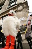 Peta Demonstrators Dressed As Ducks Protest Outside Selfridges Department Store Over The Store's Selling Of Foie Gras