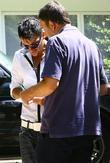 Peter Andre signs an autograph for a fan...