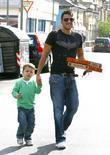 Peter Andre and with his friend's son