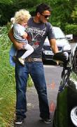 Peter Andre and with his daughter Princess Tiaamii