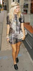 Pixie Lott leaving the GMTV studios London, England
