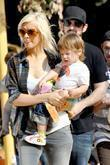 Christina Aguilera, son Max and Jordan Bratman