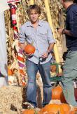 Larry Birkhead visits Mr. Bones Pumpkin Patch in West Hollywood with his daughter Dannielynn