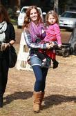 Rebecca Mader Visits Mr. Bones Pumpkin Patch In West Hollywood With Her Daughter