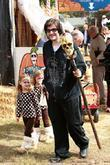 Jason Gummi Bear Davis visits Mr. Bones Pumpkin Patch in West Hollywood