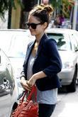 Rachel Bilson, Sporting Her Large Engagement Ring and Leaving A Restaurant After Having Breakfast With A Friend