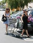 Rachel Bilson out shopping for groceries and flowers...