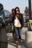Rachel Bilson, a friend pick up miniature lights and other supplies at Michael's in Glendale