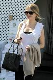 Rebecca Gayheart Leaving La Conversation After Having Lunch.