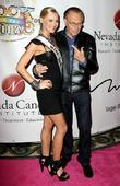 Larry King and Miss USA Kristen Dalton Nevada...