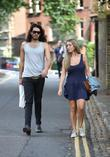 Russell Brand, Laura Gallacher Go Shopping In Hampstead and Then Return To His Home
