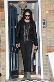 Russell Brand leaving his house London, England