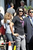 Russell Brand  on the set of 'Get...