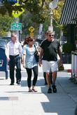 Ryan O'neal Takes Food To Go After Having Lunch With A Friend