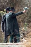 Seth Rogen On The Set Of His Upcoming Film 'the Green Hornet'