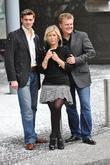 Suzanne Shaw, Alled Jones at a Photocall for Snow White and the Lowery theatre Manchester