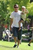 Gavin Rossdale and his son Kingston Rossdale spend...