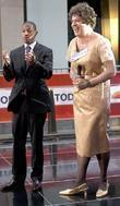 Nick Cannon and Lester Holt as Susan Boyle