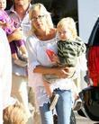 Tori Spelling takes her son Liam to Cross...