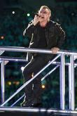 Bono U2 performing live in concert at the...