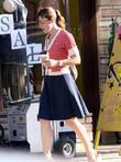 Jennifer Garner on the set of her new...