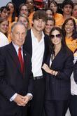 Mayor Michael Bloomberg and Ashton Kutcher