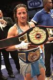 Myriam Lamare Of France With Her Winners Belts