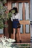 Shenae Grimes on the set of '90210' Los...