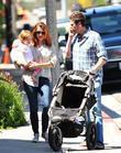 Alyson Hannigan, her husband Alexis Denisof and their...