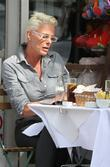 Brigitte Nielsen  enjoys a lunch after spending...