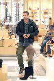 Aaron Eckhart shopping for shoes at Barneys Of...