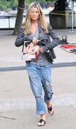 Abbey Clancy filming 'This Morning' on the South...