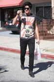 Adam Lambert Was Spotted Leaving A Liquor Store In West Hollywood